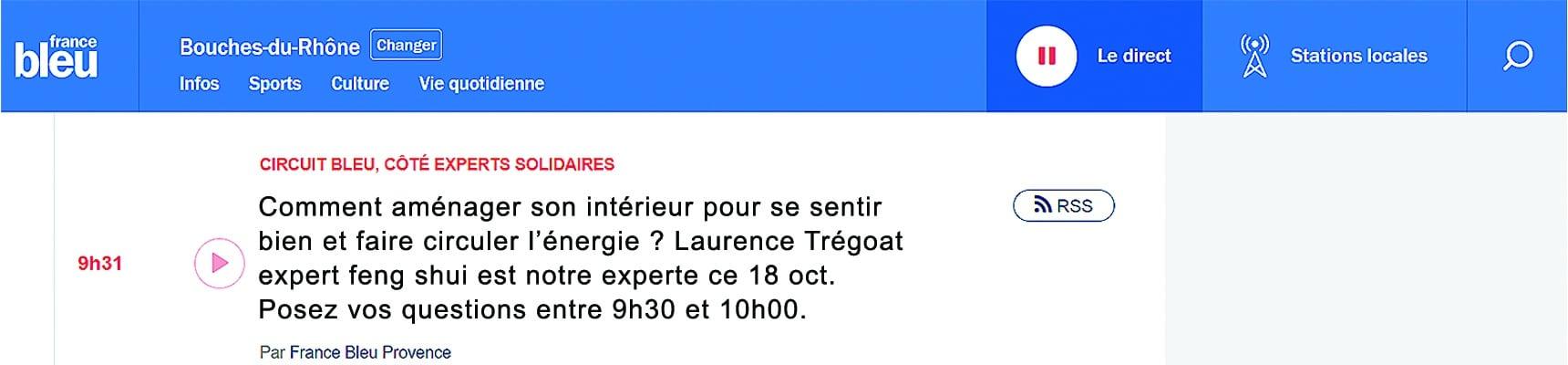 LTB Feng Shui Design chez France Bleu Provence